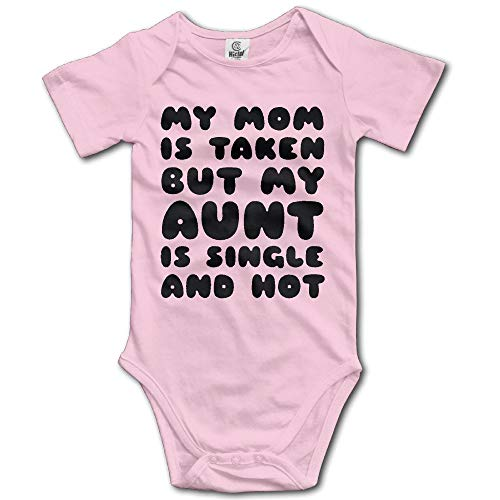 Doormat-bag My Mom is Taken But My Aunt is Single and Hot Unisex Boys Girls Sleepwear Romper Baby Onesie 12 Months -