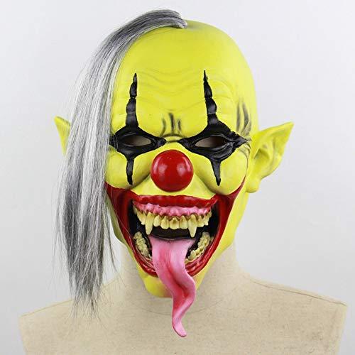 8Eninine Grüne Gesichts Clown Maske Halloween Weihnachten Latex Maske (Masken Beängstigend Adult)