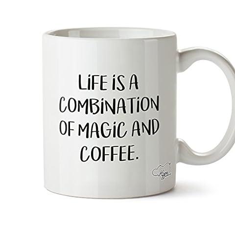 Hippowarehouse Vie est une combinaison de magie et tasse mug à café 283,5gram, Céramique, blanc, One Size (10oz)