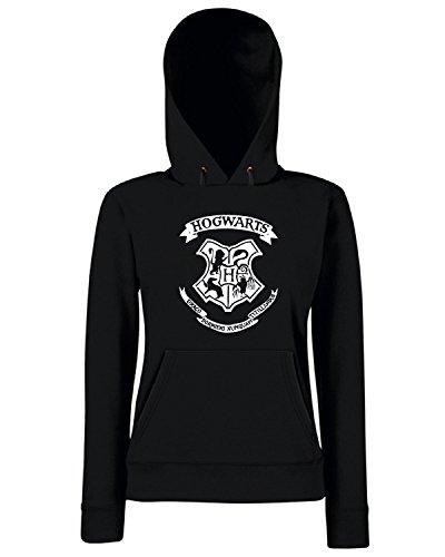 T-Shirtshock - Sweats a capuche Femme TGAM0035 Hogwarts Noir