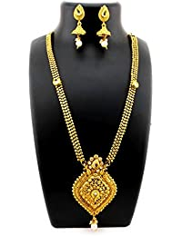 Trendest Fashion Jewellery Gold Plated Necklace Set For Women - B078R72YVW