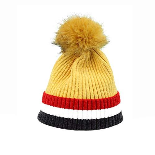 (Nosterappou Stilvoll und bequem, trägt eine Wintermütze, aus der Aktivitätskappe, elastischer Kopfumfang, um den Kopf warm zu halten, kann mit jeder Art von Kleidung abgestimmt werden, College-Stil ex)