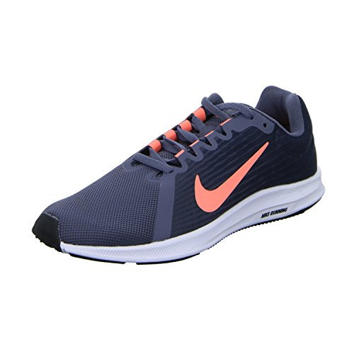 separation shoes 2da7b aaf88 Nike Ladies Downshifter 8 Scarpe Da Corsa Blu (grigio)