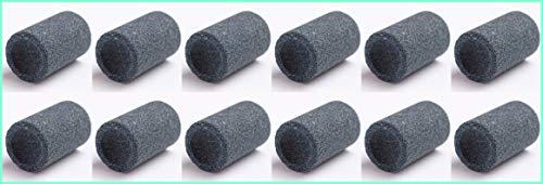 Thor-Darts 10 Schleifsteine für Metallspitzen, rund Dart Point Spitzer Darts Sharpener Schleifstein Sharpening Stones für Steel Tip Darts - Dart Stahlspitzen Schleifer (10) (Darts Steel Tip Spitzer)