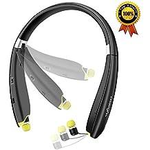 NEXGADGET Auriculares Inalámbrico Bluetooth 4.1, Deportes Auriculares Estéreo Plegables con Micrófono Headphones Wireless para iPhone, iPod, iPad ,Samsung ,Huawei, Sony y Laptop Ordenador Portátil