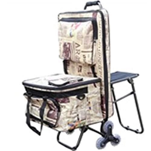 TLMYDD Trolley Malwerkzeug, Multifunktions-Einkaufstrolley, faltbar, für den Außenbereich, für Skizzen, Auto mit Sitz-Staffelei, Auto, Malerei, Material Treppen, Mountainbike, Trolley 2
