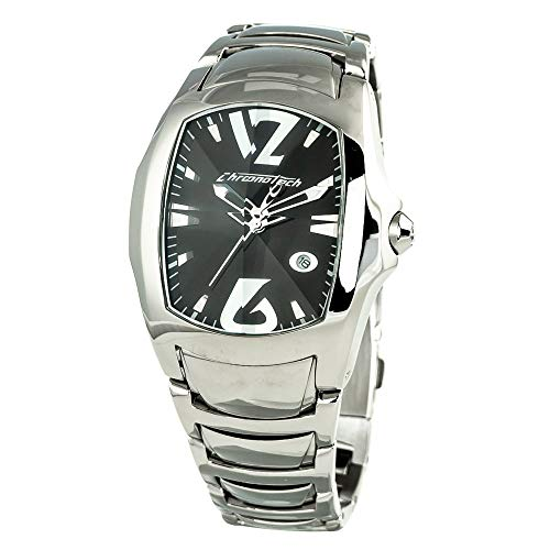 Chronotech orologio analogico quarzo uomo con cinturino in acciaio inox ct7896m-02m