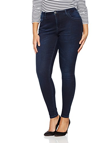 Zizzi Damen Amy Skinny Jeans, Blau (Dark Blue 1079), 46/L30 (Herstellergröße: 46) (Plus-size-skinny Jeans Für Frauen)