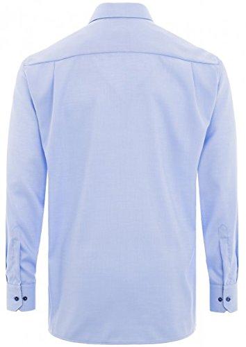 Eterna - Comfort Fit - Bügelfreies Herren Langarm Hemd mit Kent Kragen in Weiß oder Blau (8464 E36R) Blau (12)