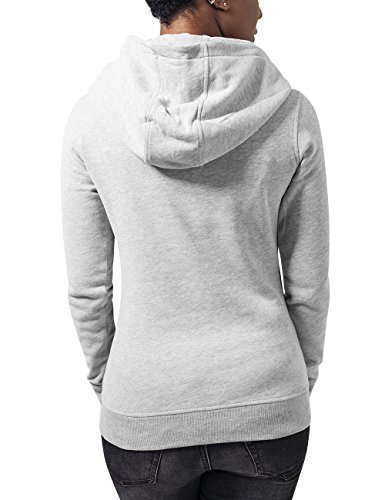 Urban Classics Ladies High Neck Hoody, Sweat-Shirt à Capuche Femme Gris - Grau (Grey 111)