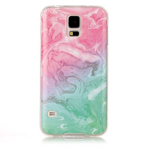inShang Samsung Galaxy S5 Coque étui pour téléphone Portable, Anti Slip, Ultra Mince et léger, étui Rigide Fait dans Le matériel de TPU, Housse Mate9 Coque,Marble Pattern