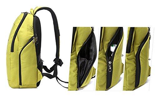 YK Business Damen und Herren Slim Rucksack, Computer Rucksack, Reisen Business Handtaschen,–passt, bis 35,8cm Notebook Schwarz