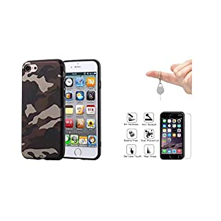 iPhone 7 case, iPhone 8 Case, offered 1 Protection iPhone screen in toughened glass and Tool Carries key Ejection card Sim by AGDs [Camouflage, US Army] protection for Apple of 4.7 inch - B