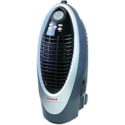 Honeywell Cs10Xe Enfriador de Aire evaporativo portátil, 100 W, 10 litros, Gris, Plata y Negro