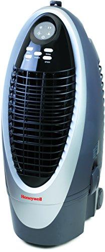 Honeywell CS10XE - Enfriador de aire evaporativo portátil, 100 W, color gris, plata y negro