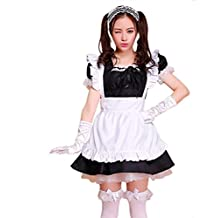 tzm2016 Anime Cosplay Maid Costumes£¬Cute Lolita French Maid Costumes (black ,Size