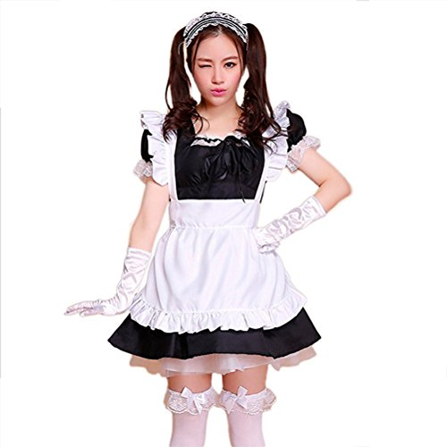 Preisvergleich Produktbild tzm2016 Anime Cosplay Maid Costumes£¬Cute Lolita French Maid Costumes ( black ,Size - XXL )