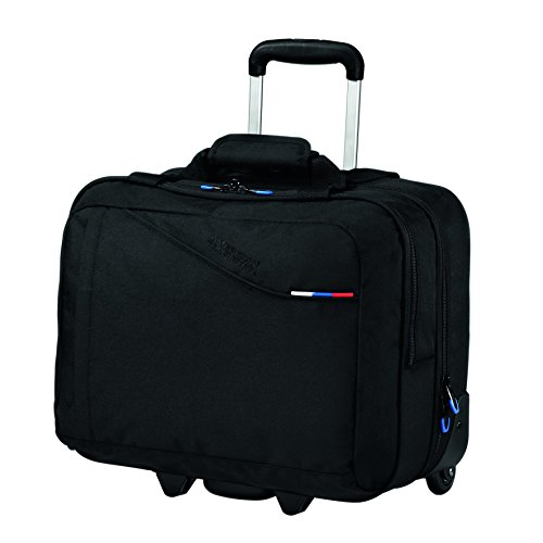 American Tourister Laptoptrolley AT BUSINESS III ROLLING TOTE BLACK -