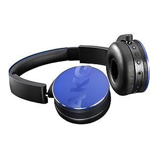 AKG Y50BT Portable Foldable On-Ear Rechargeable Bluetooth Headphones - Blue