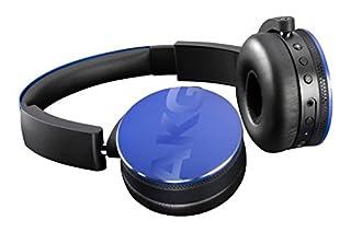 AKG Y50BT Auriculares supraaurales inalámbricos Bluetooth Recargables, compatibles con Smartphones y tabletas iOS e Apple y Android, Color Azul (B01583HHPY)   Amazon Products