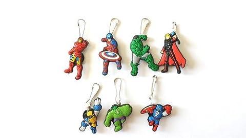AVIRGO 7 pcs Zipper Pull Charms for Jacket Backpack Bag Pendant Set # 12-2