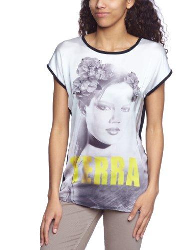 VERO MODA - 10090813 ROSITTA SS TOP, T-shirt da donna Bianco/Nero
