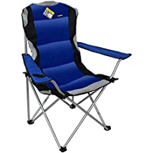 Marko Outdoor Blue Luxury Padded Folding Camping Chairs Fishing Festivals Garden SUMMER