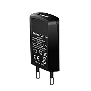 OAONAN USB Handy Ladegerät Ultra Dünn USB Netzteil Tragbares Ladegerät für iPhone, iPad, Samsung Galaxy, Nexus, HTC, Motorola, LG und Weitere (Schwarz)