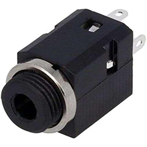 FC681374V Socket Jack 3,5mm female stereo with on/off switch straight