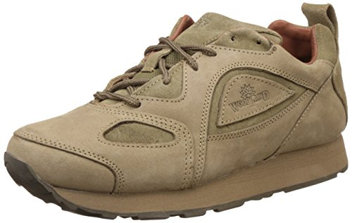 Woodland Men's Khaki Leather Sneakers - 10 UK/India (44 EU)  available at amazon for Rs.2096