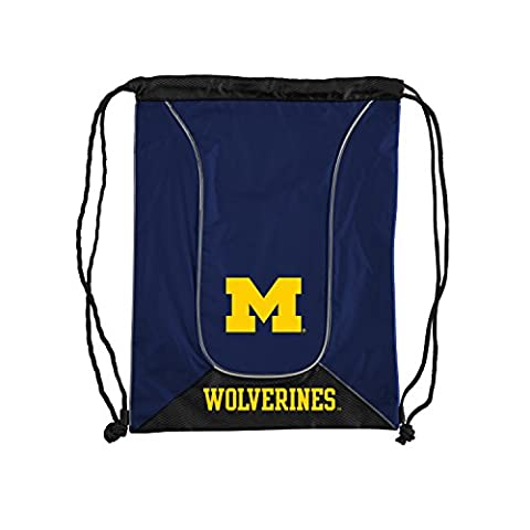 NCAA Michigan Wolverines NCAA Doubleheader Backsack, Navy, Measures 19