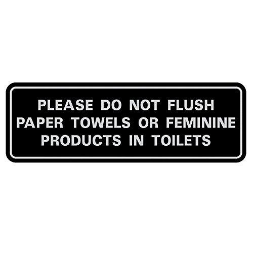 Bitte nicht Flush Papier Handtücher oder Feminine Produkte in Toiletten Tür/Wand Schild 3