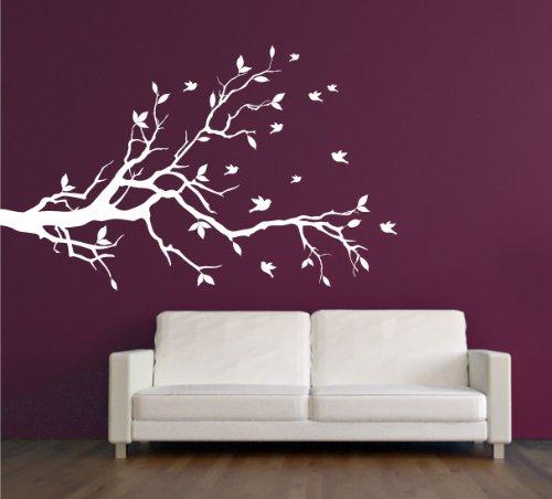 Dalinda® Wandtattoo Ast mit Vögeln Nr. L391 Wandaufkleber Wanddeko Deko