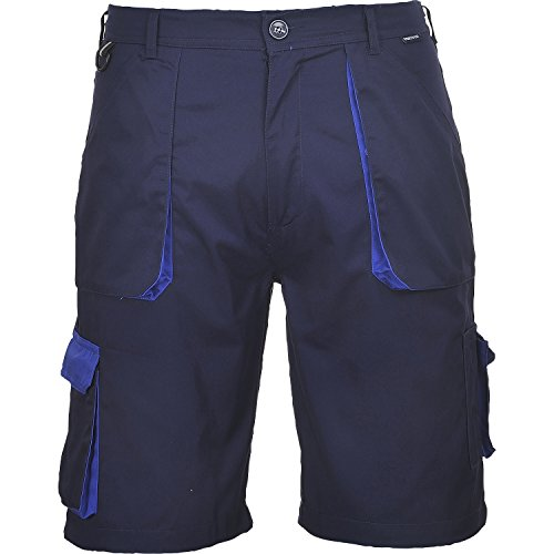 Portwest TX14NARL Pantaloni Corti Texo, Blu Navy, L