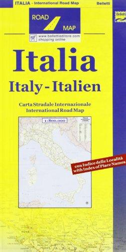 Italia amministrativa e stradale 1:800.000 (Road map)