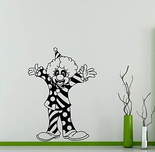 Clown Wandtattoo Circus Jester Vinyl Kindergarten Wandaufkleber Home Kinder Mädchen Jungen Kinder Schlafzimmer Kunst Decor Removable Z 84x116 cm (Dreieck-kuchen-deckel)
