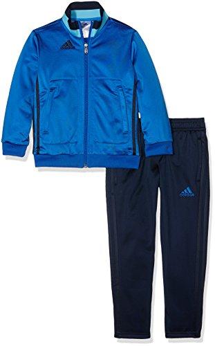 adidas Kinder Sportanzug Con16 Pes Suity Trainingsanzug, Top:Blue/Collegiate Bright Cyan Bottom:Collegiate Navy/Blue, 164 (Boys Navy Anzüge)