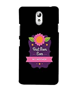 YuBingo Designer Printed Plastic Mobile Back Case Cover Panel for Lenovo Vibe P1M ( Best Mom Ever )