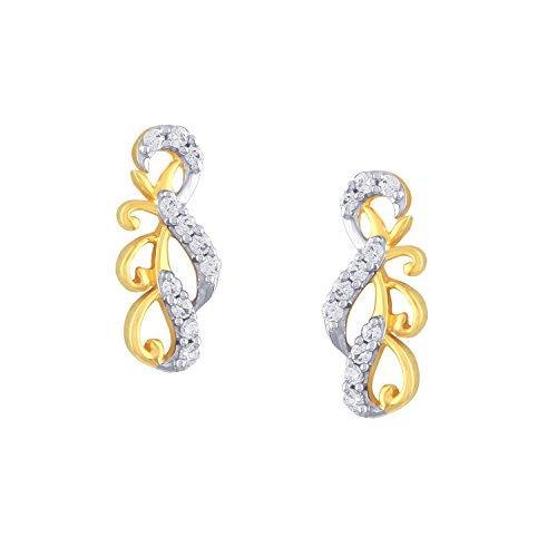 Giantti 14carats Diamant pour femme Dangler Boucles d'oreilles (0.2854CT, VS/Si-clarity, Gh-colour)