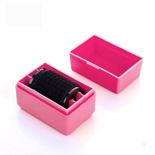 Preisvergleich Produktbild Minkoll Roller Stamps Guard Ihre ID Mini Roller perfekt für Stempel Privatsphäre (Rose rot)