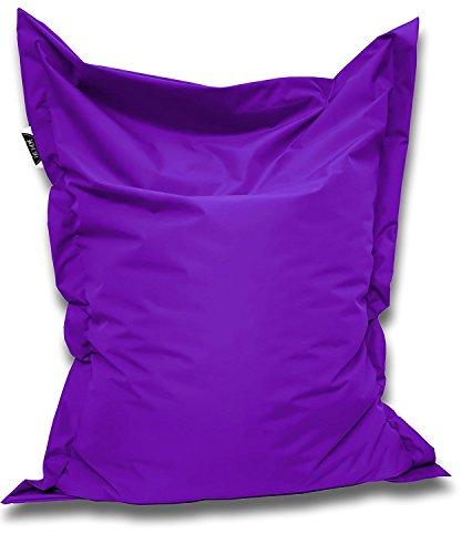 Patchhome Sitzsack und Sitzkissen Eckig - Lila - 180x145cm - in 25 Farben und 7 versch. Größen