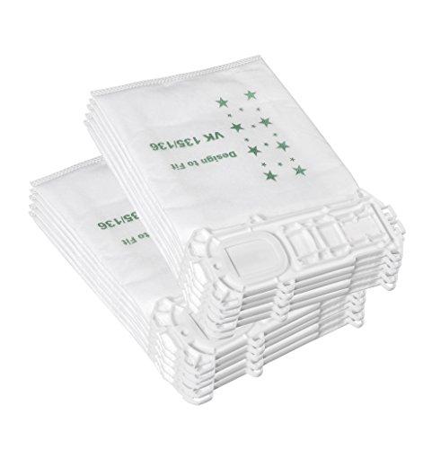 10 Aspirapolvere Bag Realizzata in Tessuto non Tessuto Adatto per Vorwerk  Folletto 135/136 / 135SC / VK135 / VK135