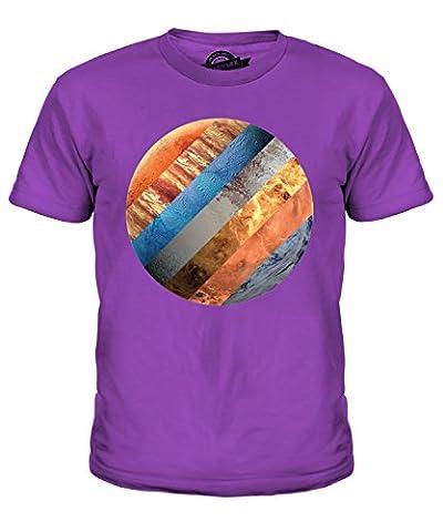 CandyMix Sonnensystem Unisex Jungen Mädchen T Shirt, Größe 2 Jahre, Farbe Violett
