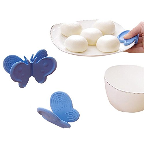 Futaba Silicone Butterfly Heat Insulated Magnetic Oven Mitts - Pack of Two