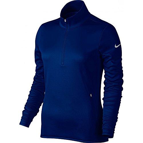 Nike Therma Haut à manches longues demi-zippé pour femme Azul Oscuro / Gris Oscuro
