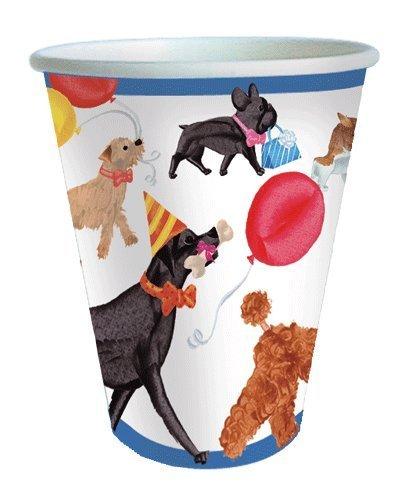 Pappbecher Party Becher Hund Party isoliert Tassen Trinken Gläser für heiße oder kalte, Papier, mehrfarbig, Pack of 32