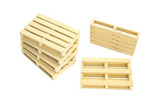 Kids Globe 610023 - Holz Paletten Set von 6 Stueck, 8.5 x 5.5 x 1.3 cm Preisvergleich