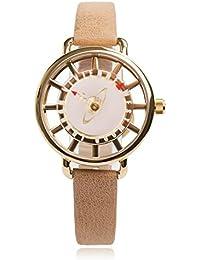 Vivienne Westwood Damen-Armbanduhr Tate Analog Leder beige VV055PKTN