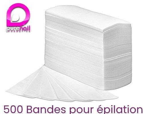 500 bandes pour EPILATION lisses non tissées de qualité supérieure