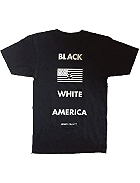 LENNY KRAVITZ - BANDERA BLANCO Y NEGRO América - Camiseta Oficial Mujer